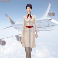 空乘連衣裙_大型航空公司空乘連衣裙定做-米蘭弘服裝廠家-4