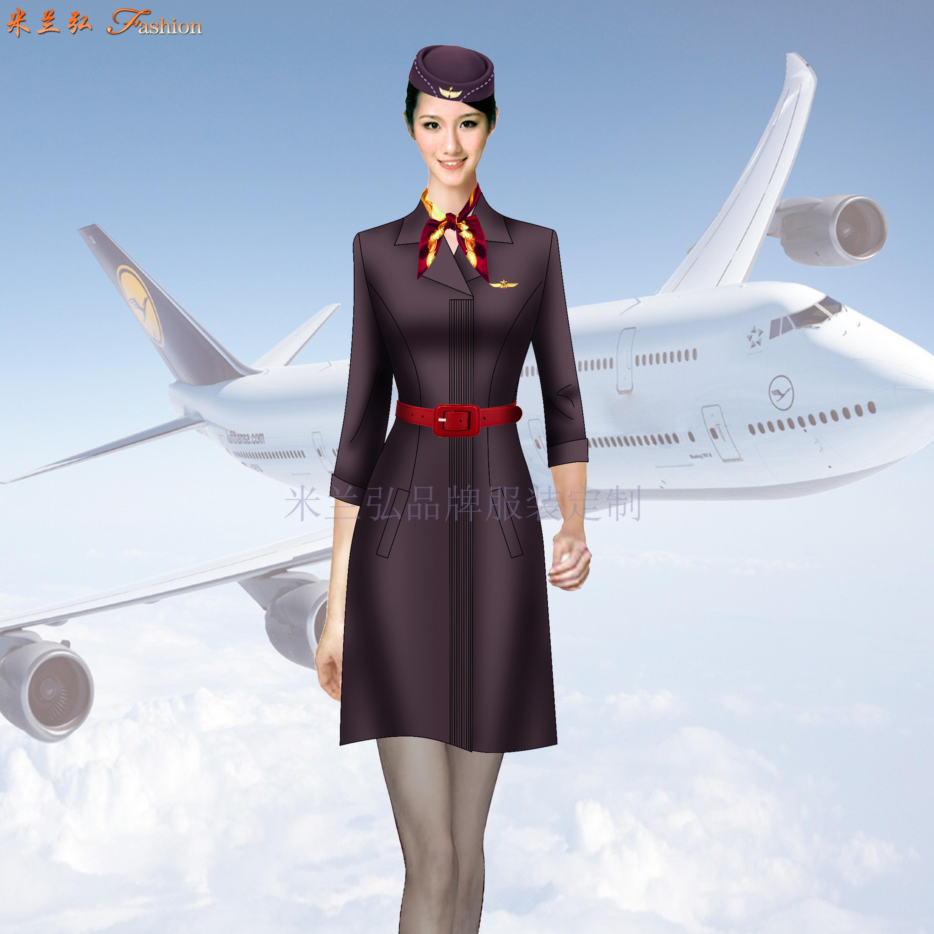 空乘連衣裙_大型航空公司空乘連衣裙定做-米蘭弘服裝廠家-1