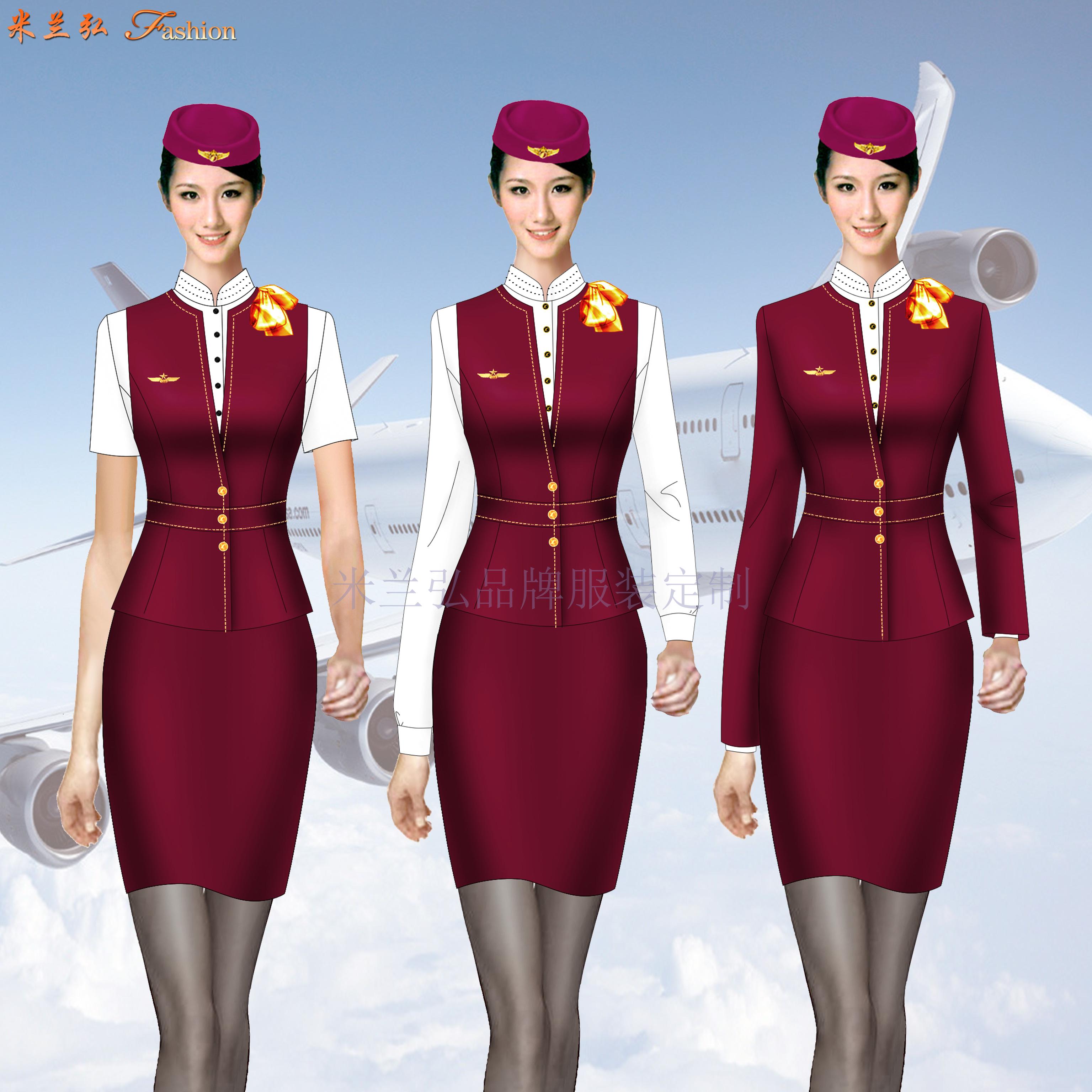 空姐職業裝定做圖片_空乘時裝套裝訂制-米蘭弘服裝廠家-2