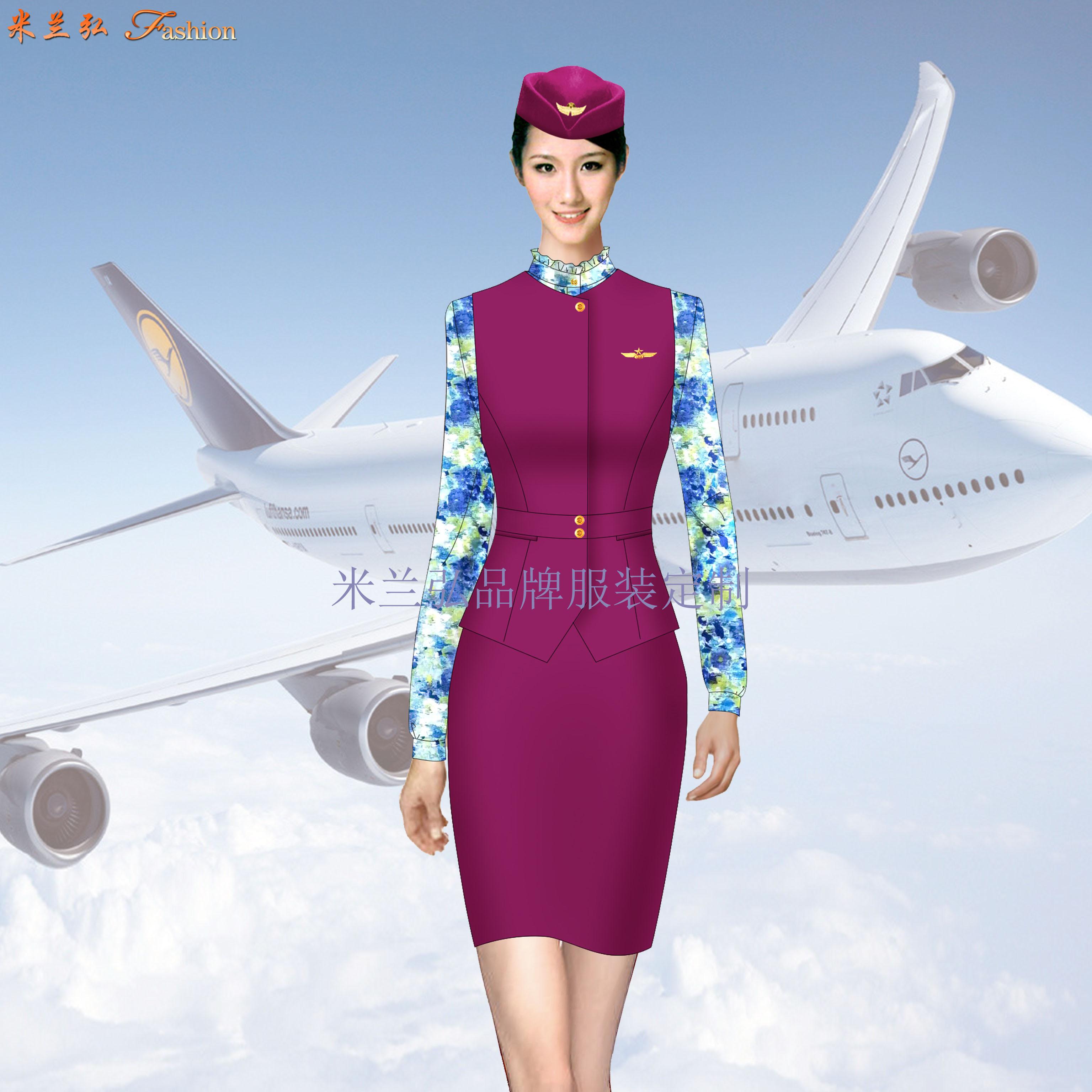 空姐職業裝定做圖片_空乘時裝套裝訂制-米蘭弘服裝廠家-1