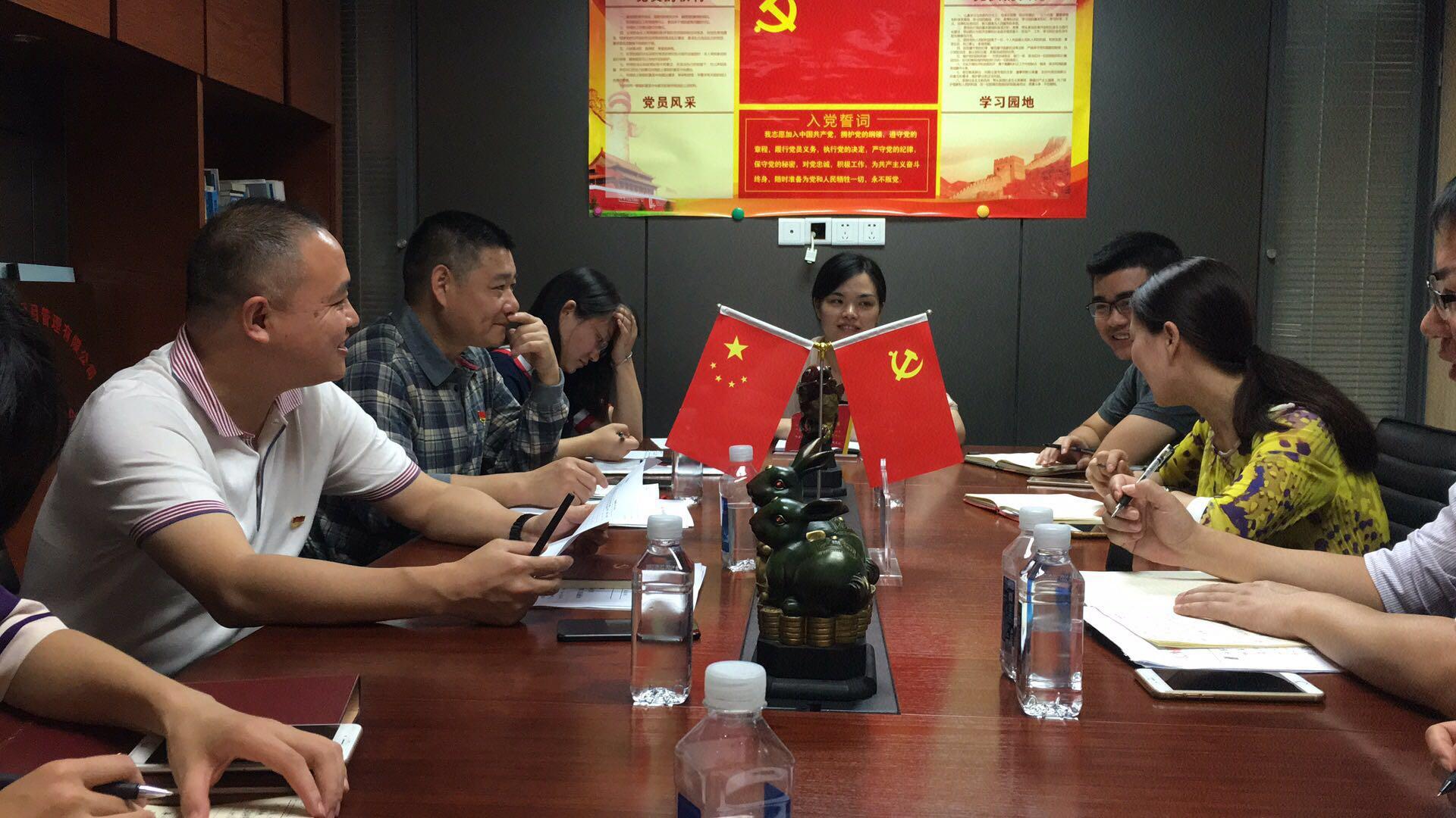2017年,雨花區組織部龔部長蒞臨指導工作