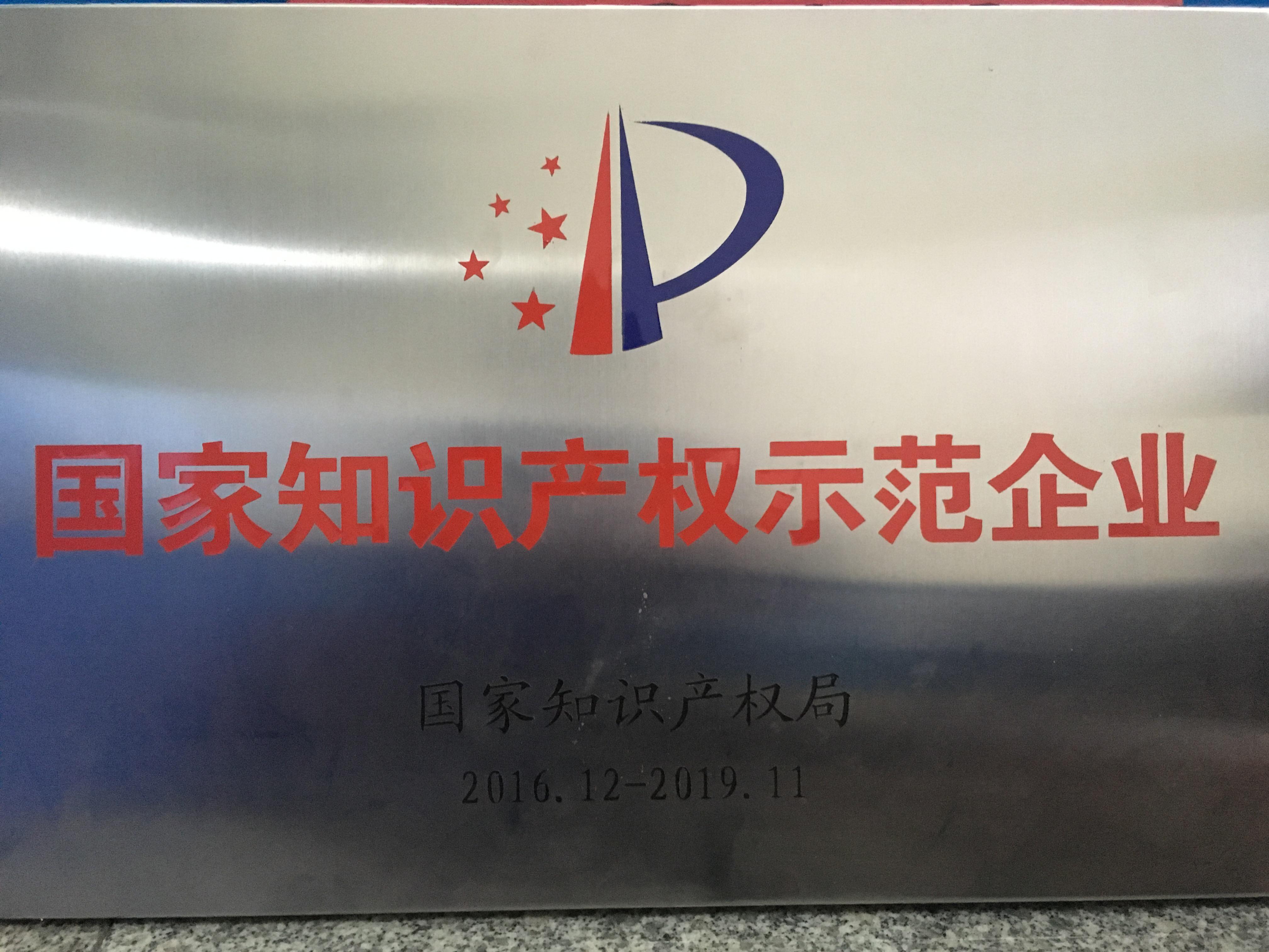 2.國家知識產權示范企業片匾