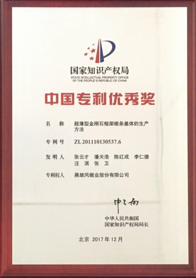 6.中國專利優秀獎201712