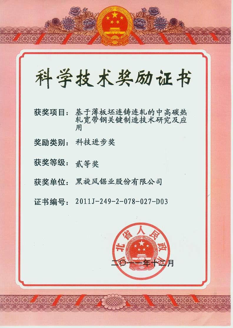 8.2011年湖北省二等獎中高碳熱壓寬帶鋼