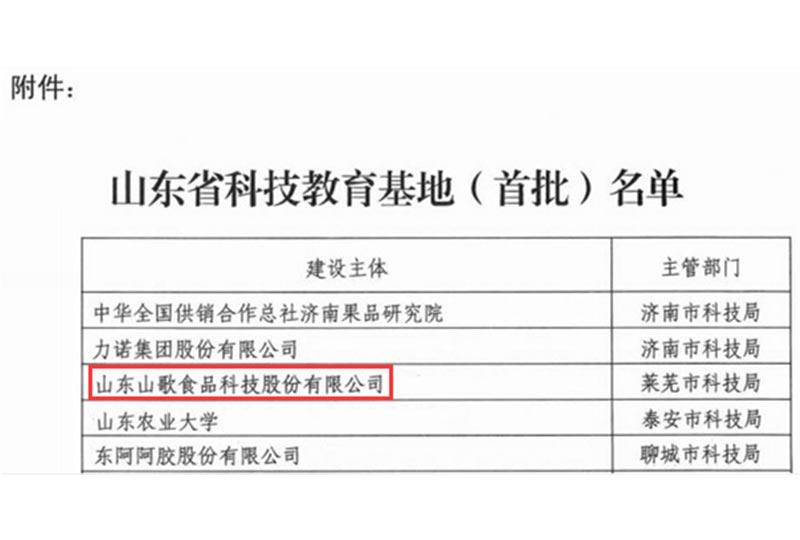 2018年10月9日被认定为万博maxbet官网是多少省首批科技教育基地
