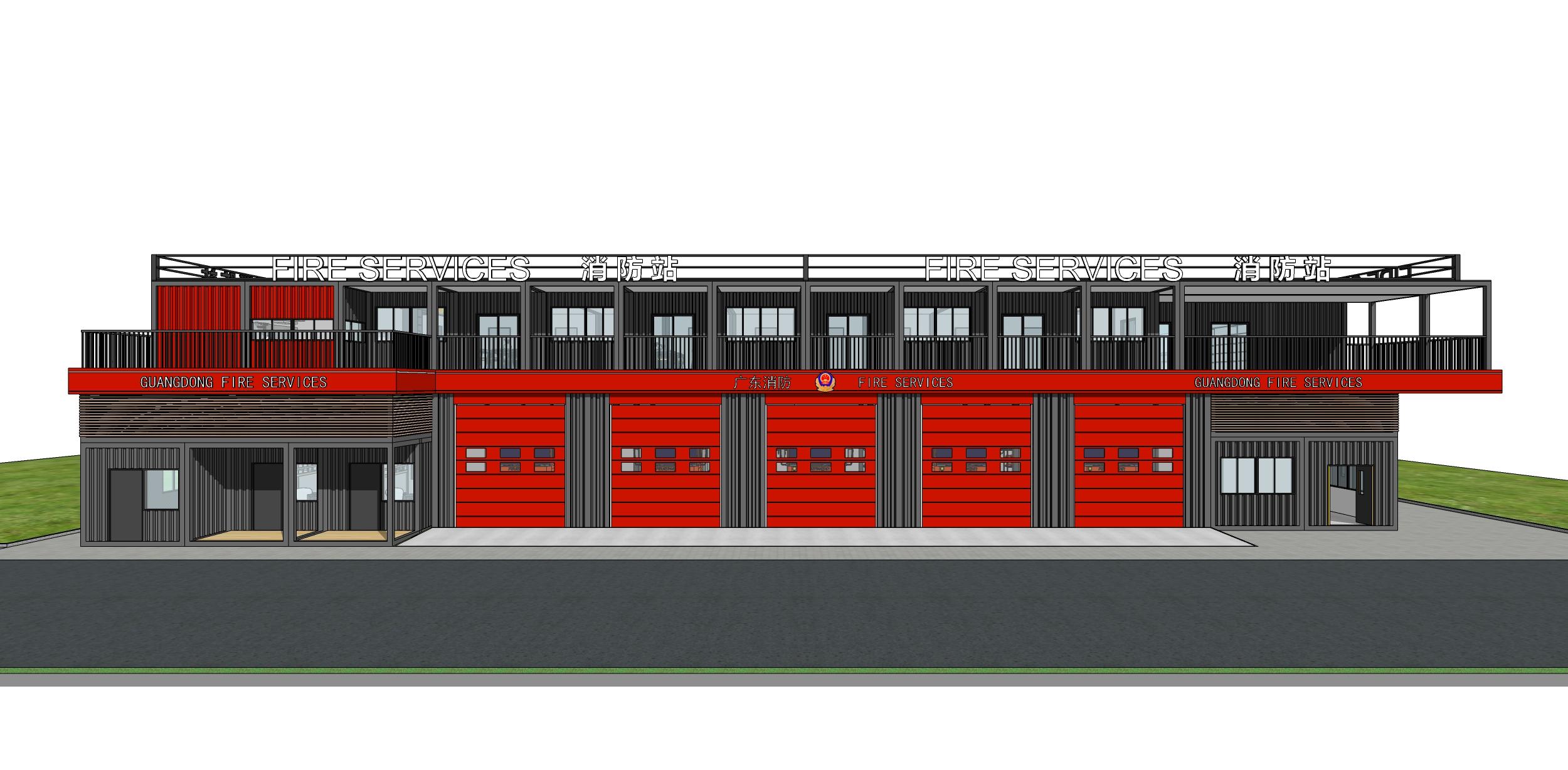 五車位小型消防站2層01