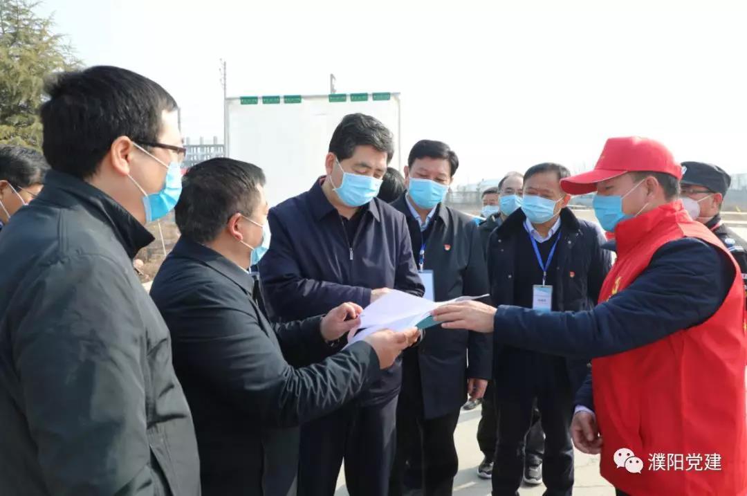 濮陽市委常委、組織部長余廣慶檢查指導疫情防控工作