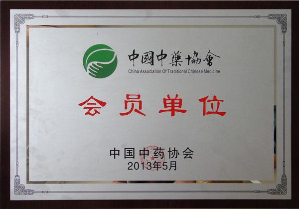 中国中药协会牌匾