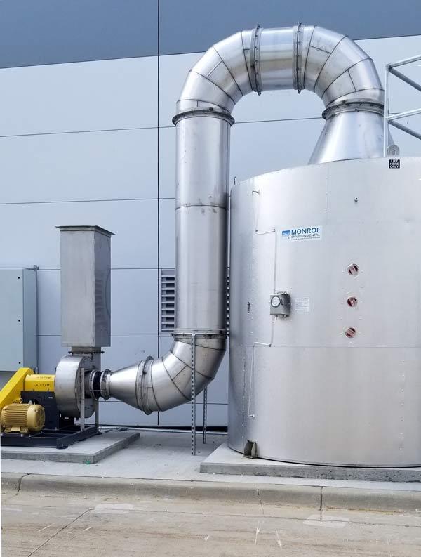024VOC空氣污染控制系統及設備-碳吸附尾氣潔凈室在蓄電池廠