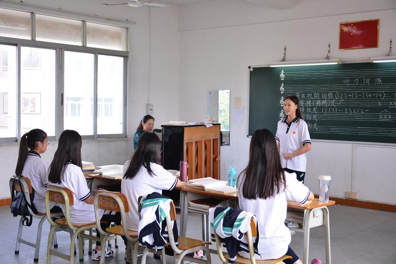 三水区华侨中学课堂实录音乐专业课