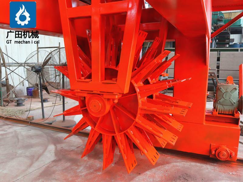 輪盤翻堆機