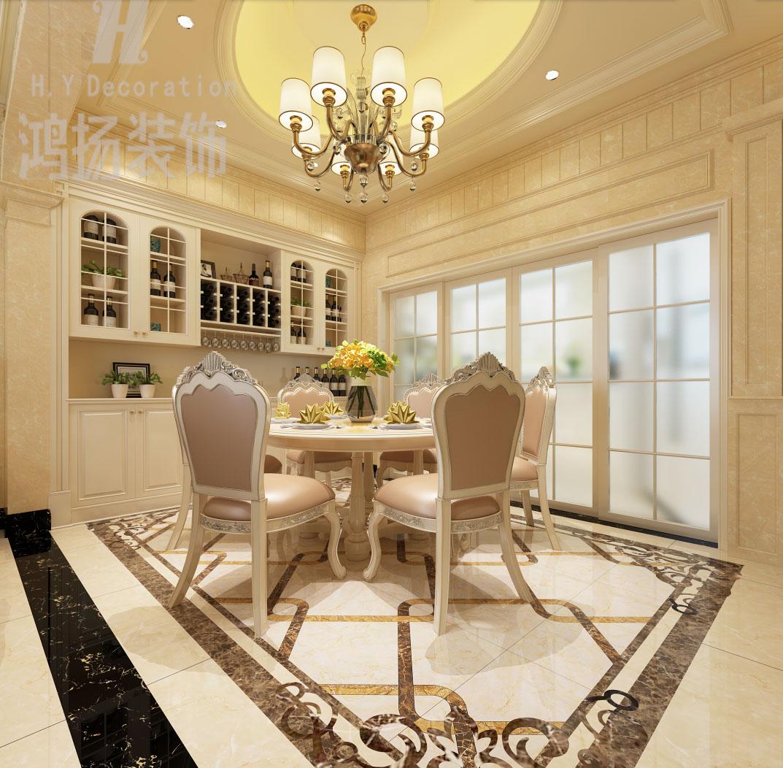 别墅欧式风格18万半包陈超碧桂园-餐厅拷贝