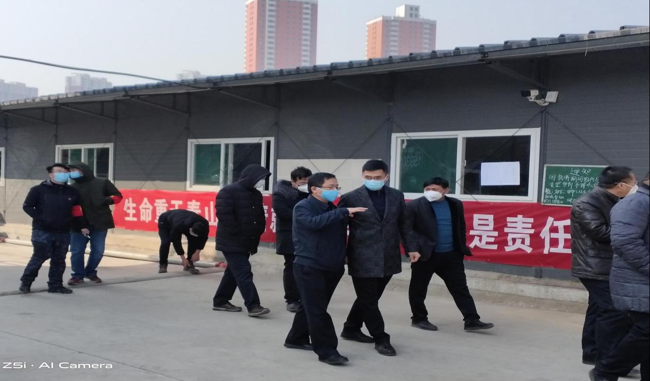 区政府领导检查项目防疫工作(中海项目部)