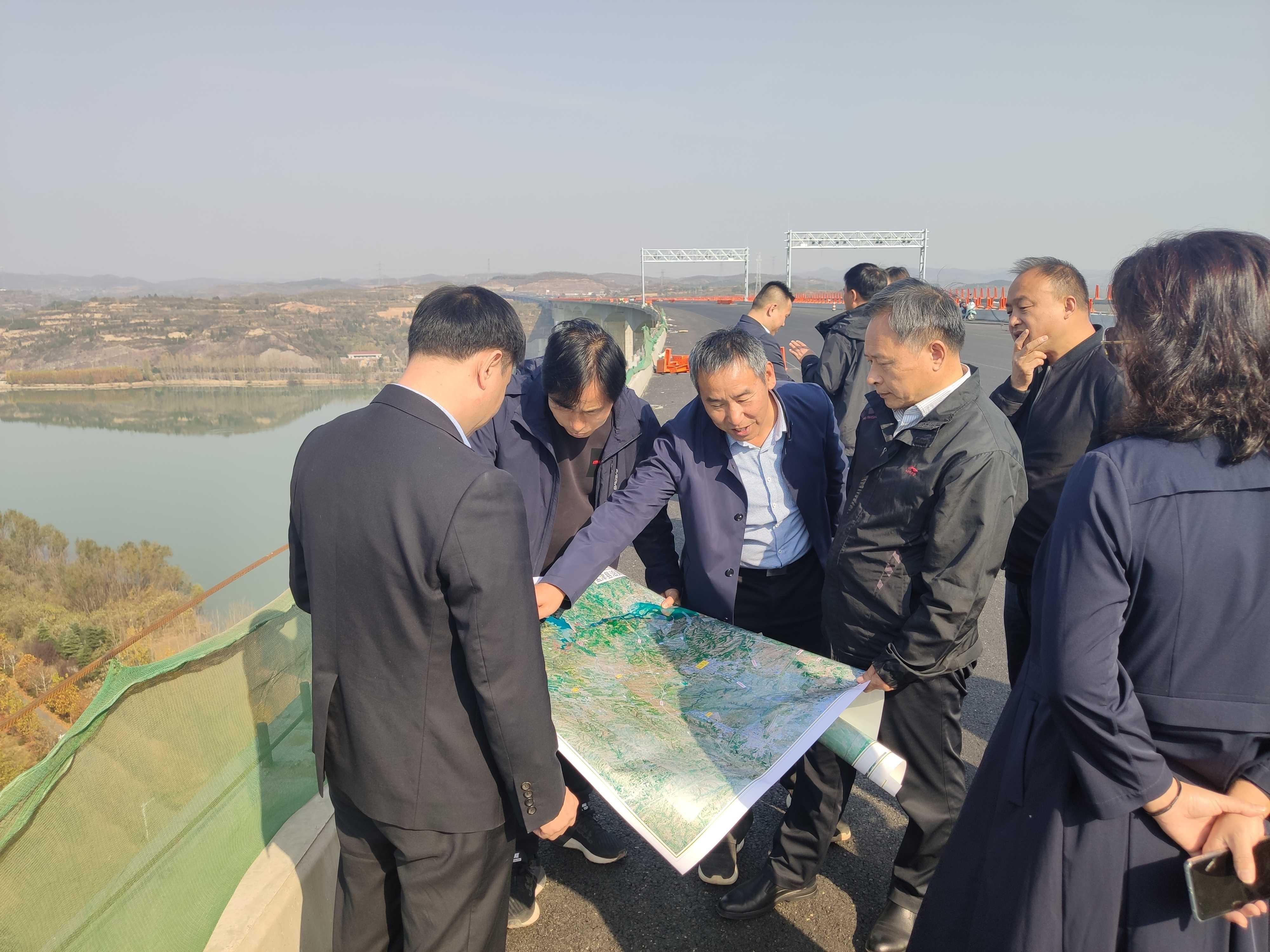 党委副书记、副董事长张希法带队到孟津县、新安县开展黄河生态廊道建设项目对接工作
