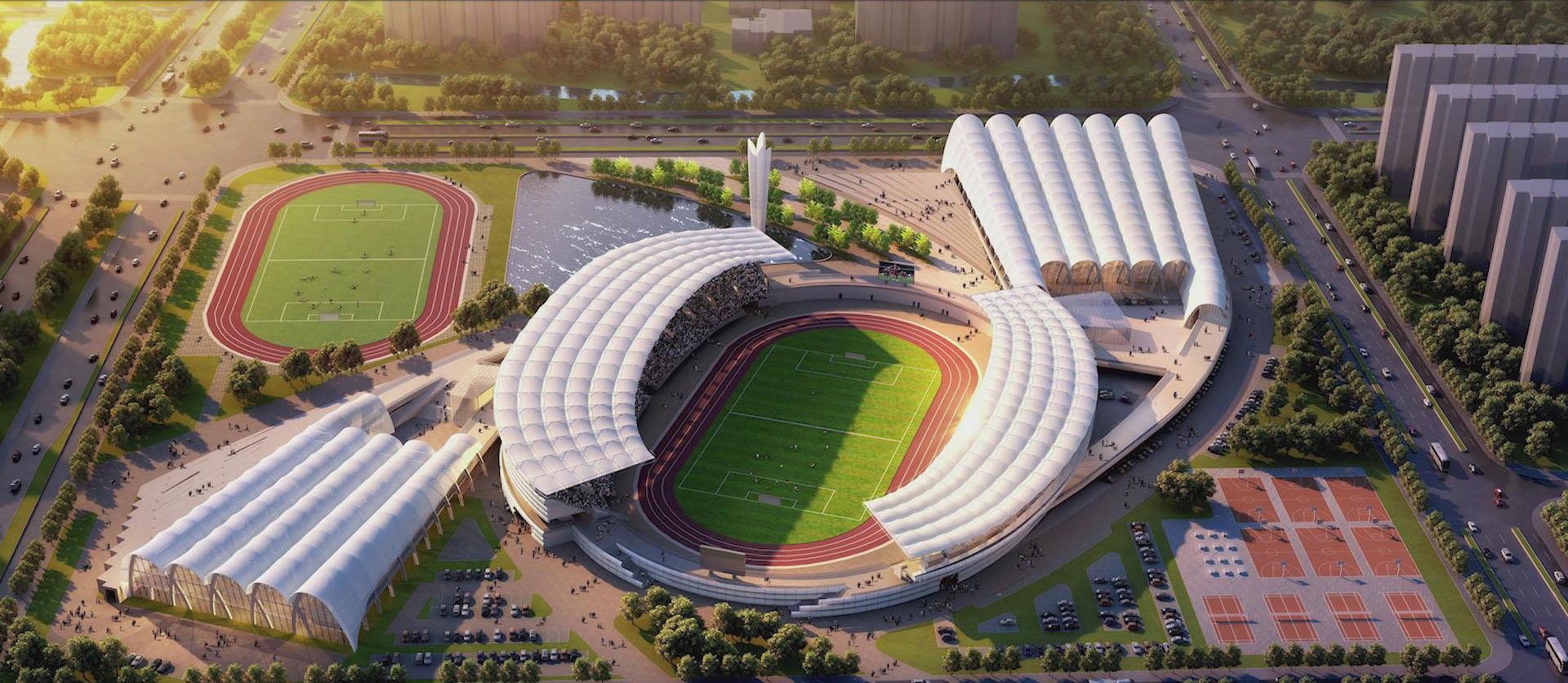 與部分典型民用建筑合作的項目-佛山高明體育文化中心