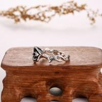 一支花泰银戒指-IMG_2355