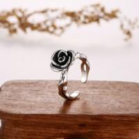 一支花泰银戒指-IMG_2357