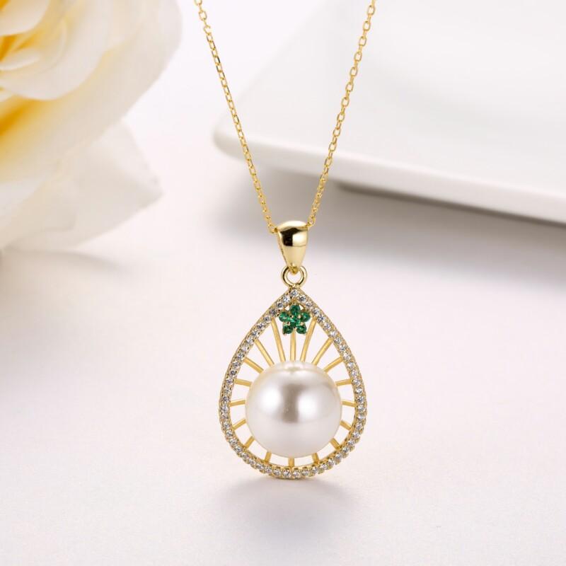 水滳形钻石珍珠吊坠-IMG_2732