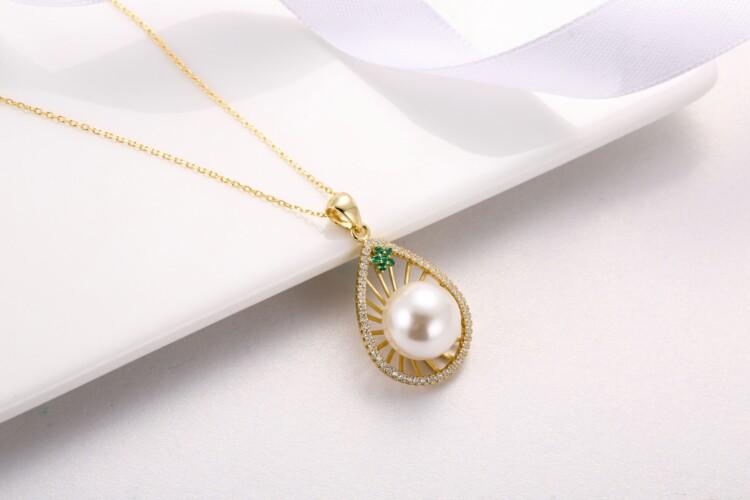 水滳形钻石珍珠吊坠-IMG_2734_1