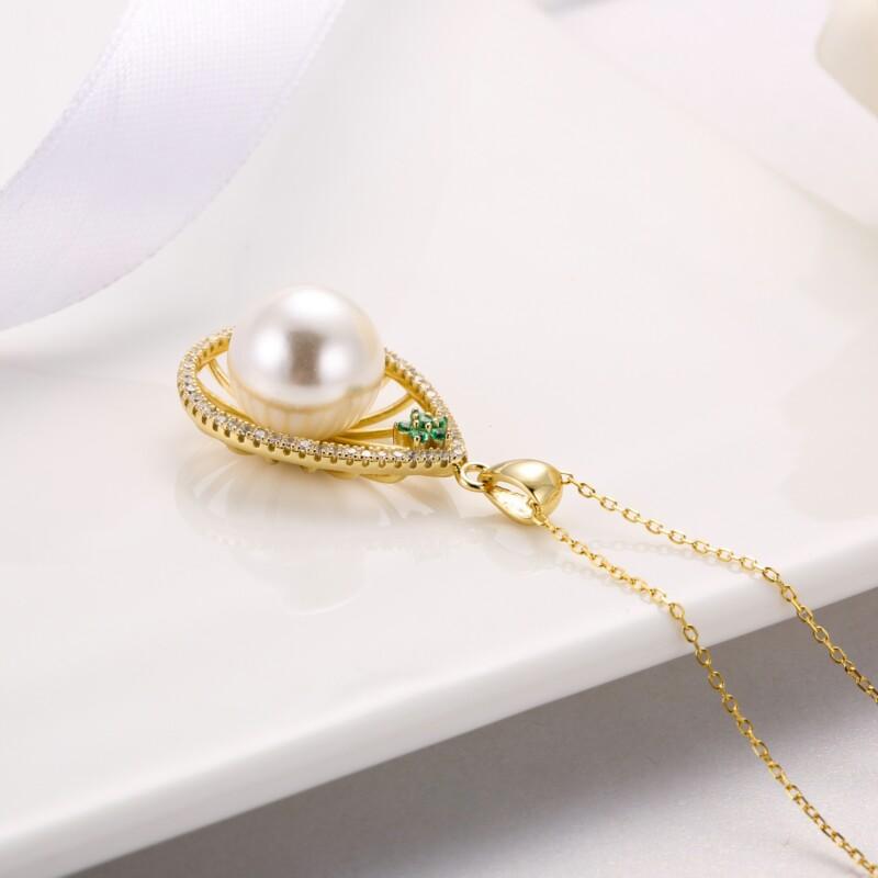 水滳形钻石珍珠吊坠-IMG_2737