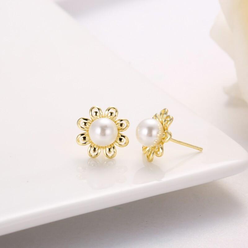 花形珍珠吊坠,耳钉-IMG_2866