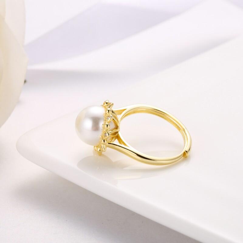 心形围珍珠吊坠,耳钉,介子-IMG_2844
