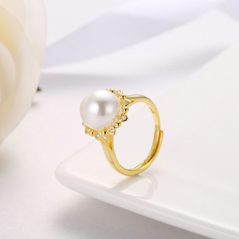心形围珍珠吊坠,耳钉,介子-IMG_2845