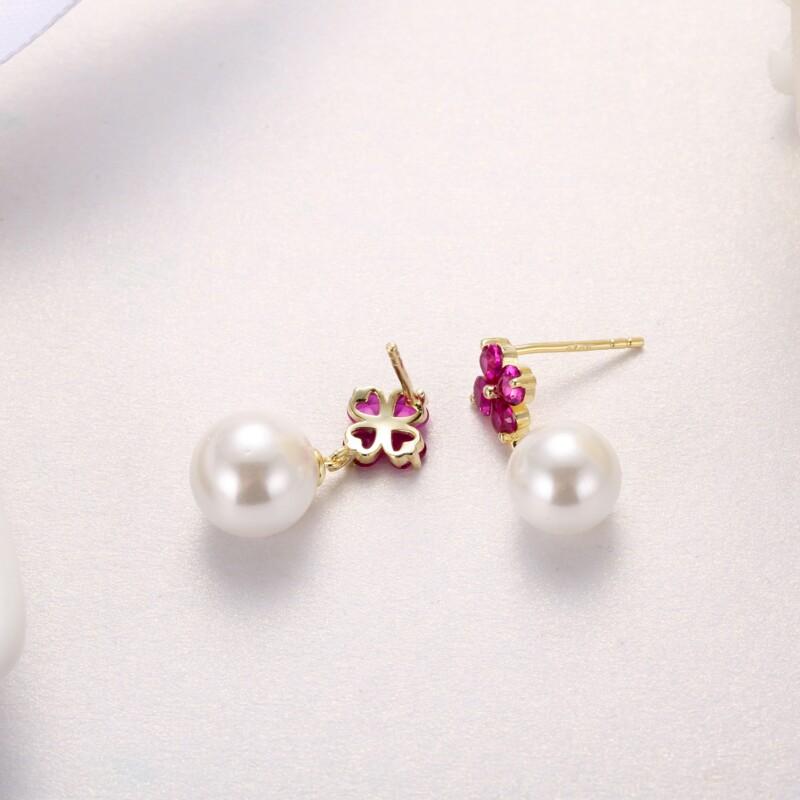心形钻珍珠吊坠,耳钉-IMG_2838