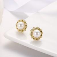 钻石围珍珠介子,吊坠,耳钉-IMG_2857