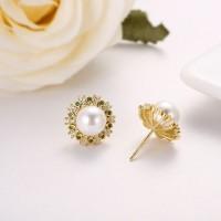 钻石围珍珠介子,吊坠,耳钉-IMG_2858
