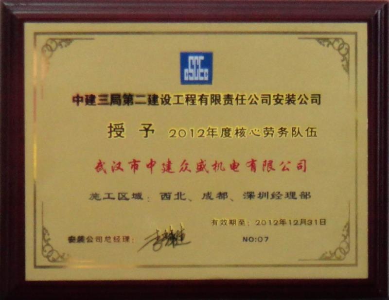 2012年度核心勞務隊伍