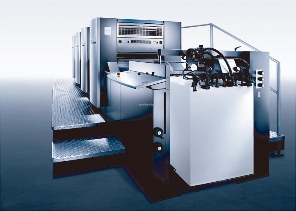 印刷中-海德堡四色膠印機
