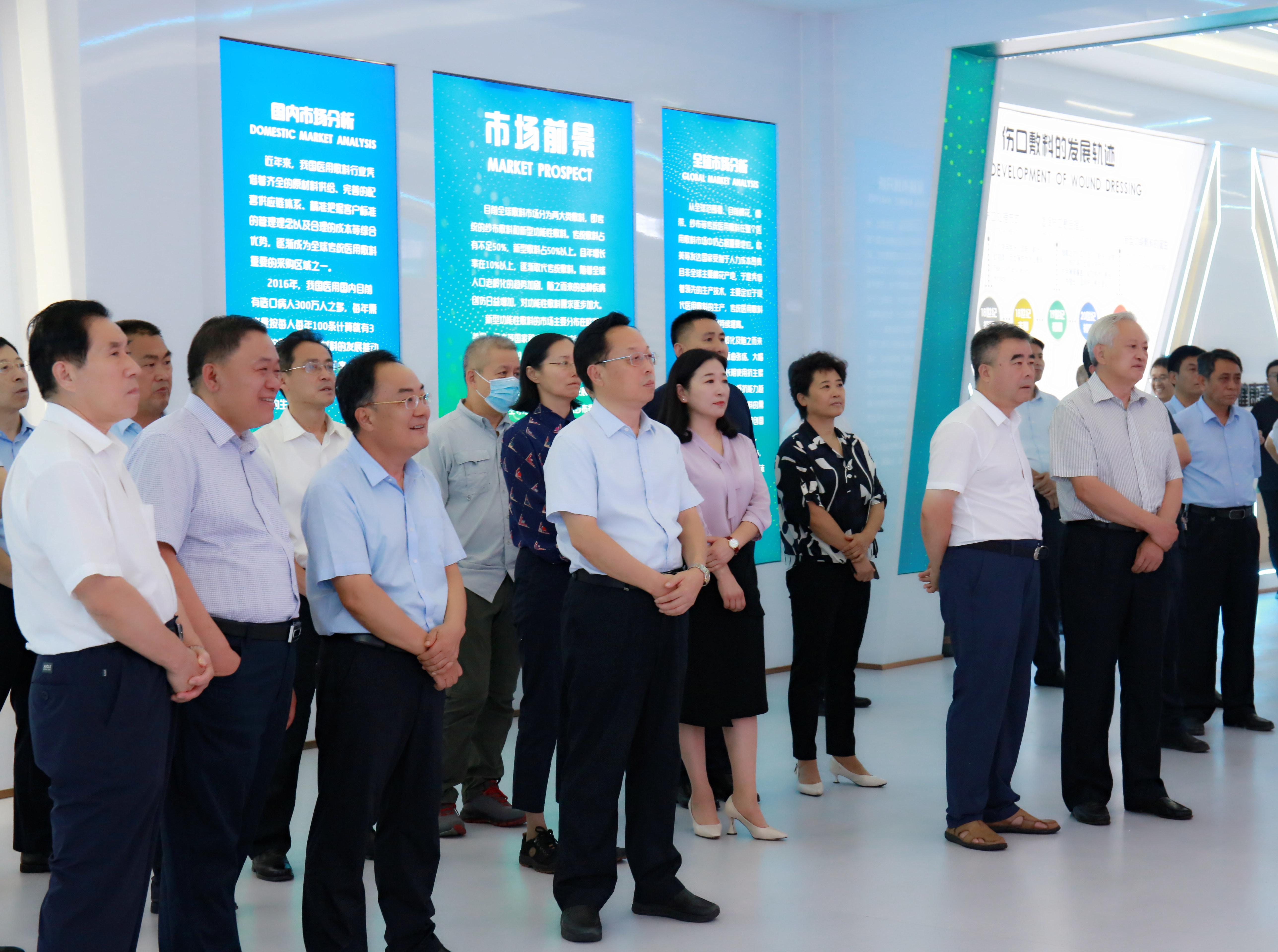 省政协副主席刘均刚一行领导莅临康力医疗调研指导工作