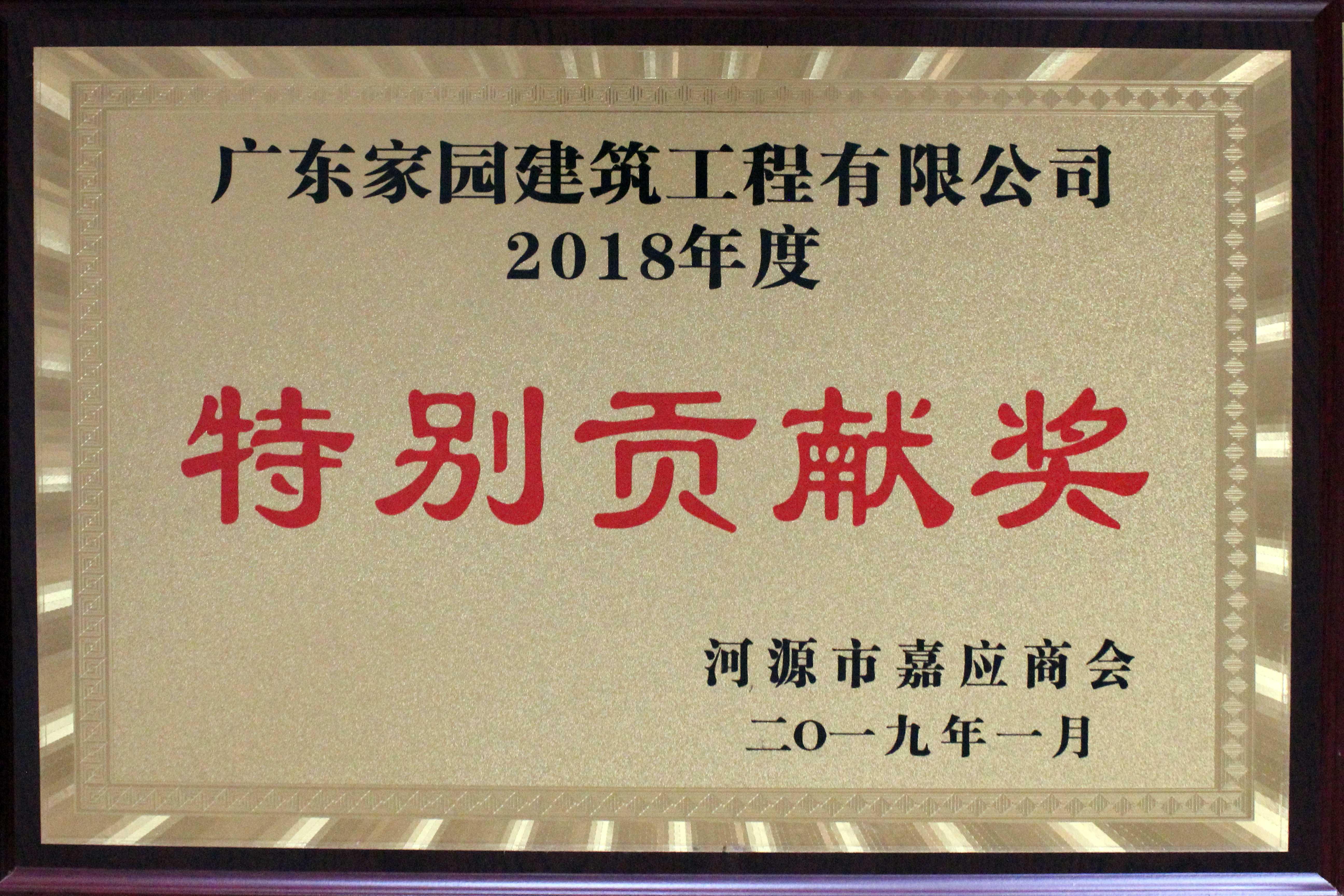 2018年度特別貢獻獎