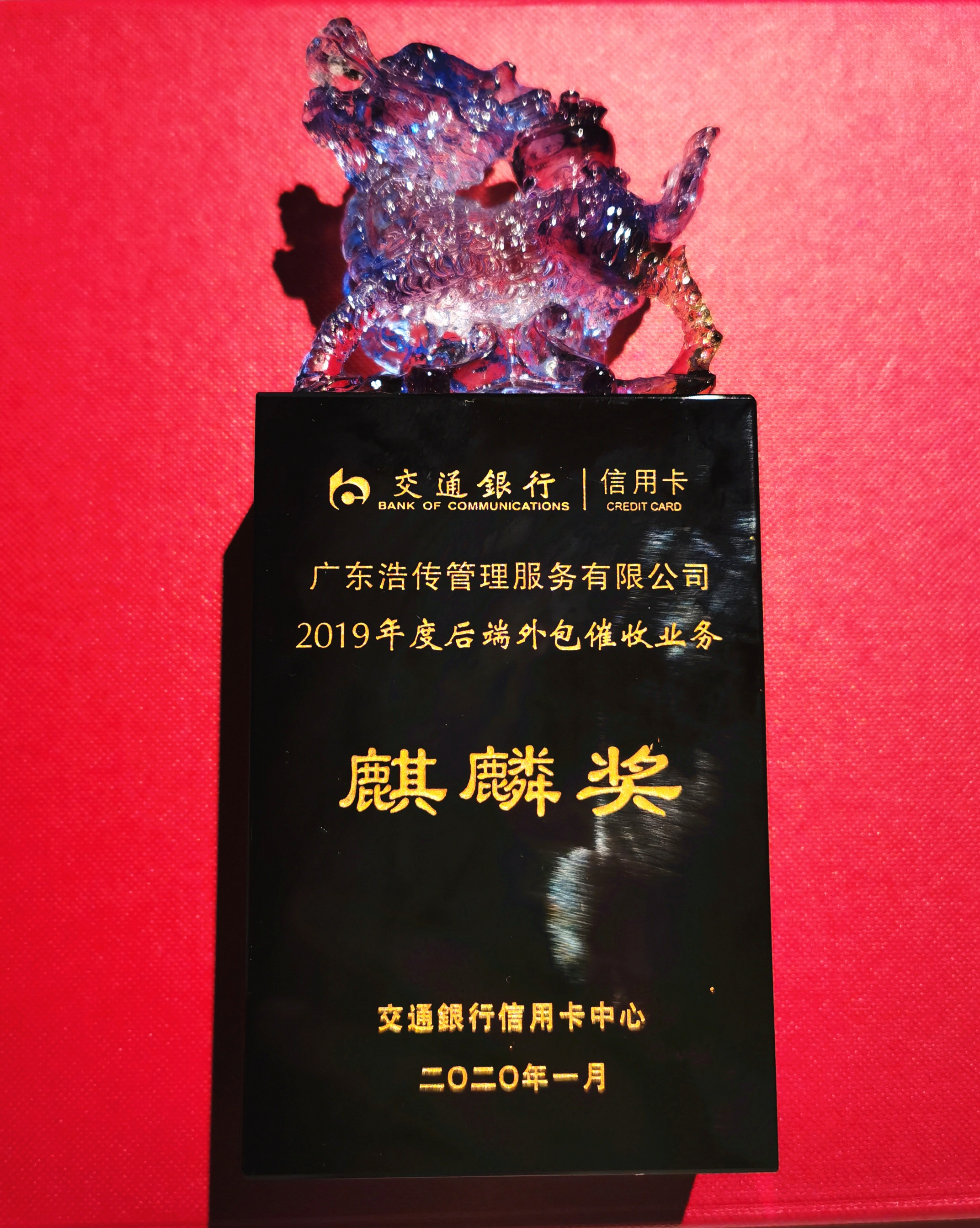 2019年度交通銀行麒麟獎