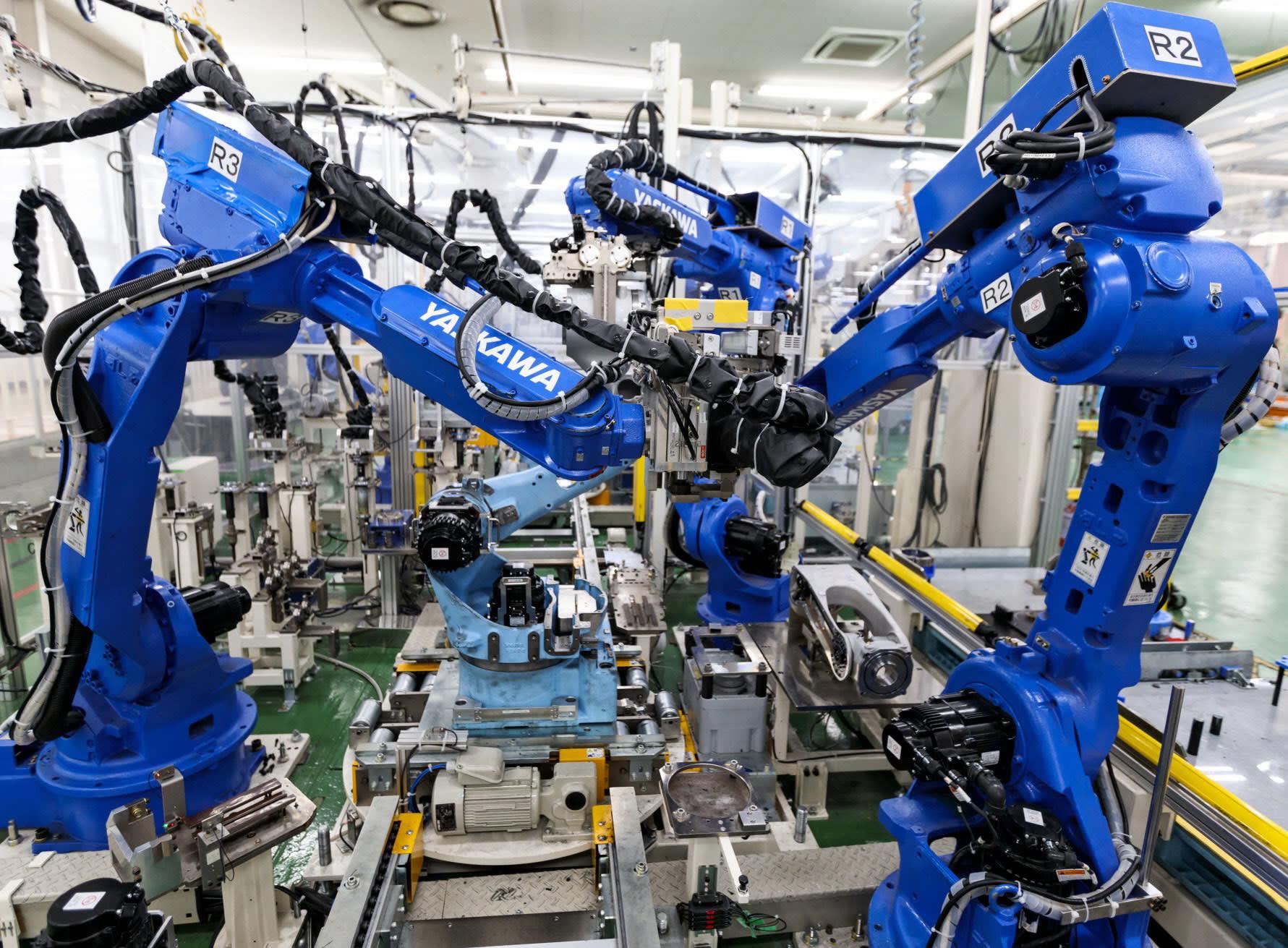 YASKAWA安川機器人裝配組裝機器人  X Robotics愛科思機器人x-ltd.com