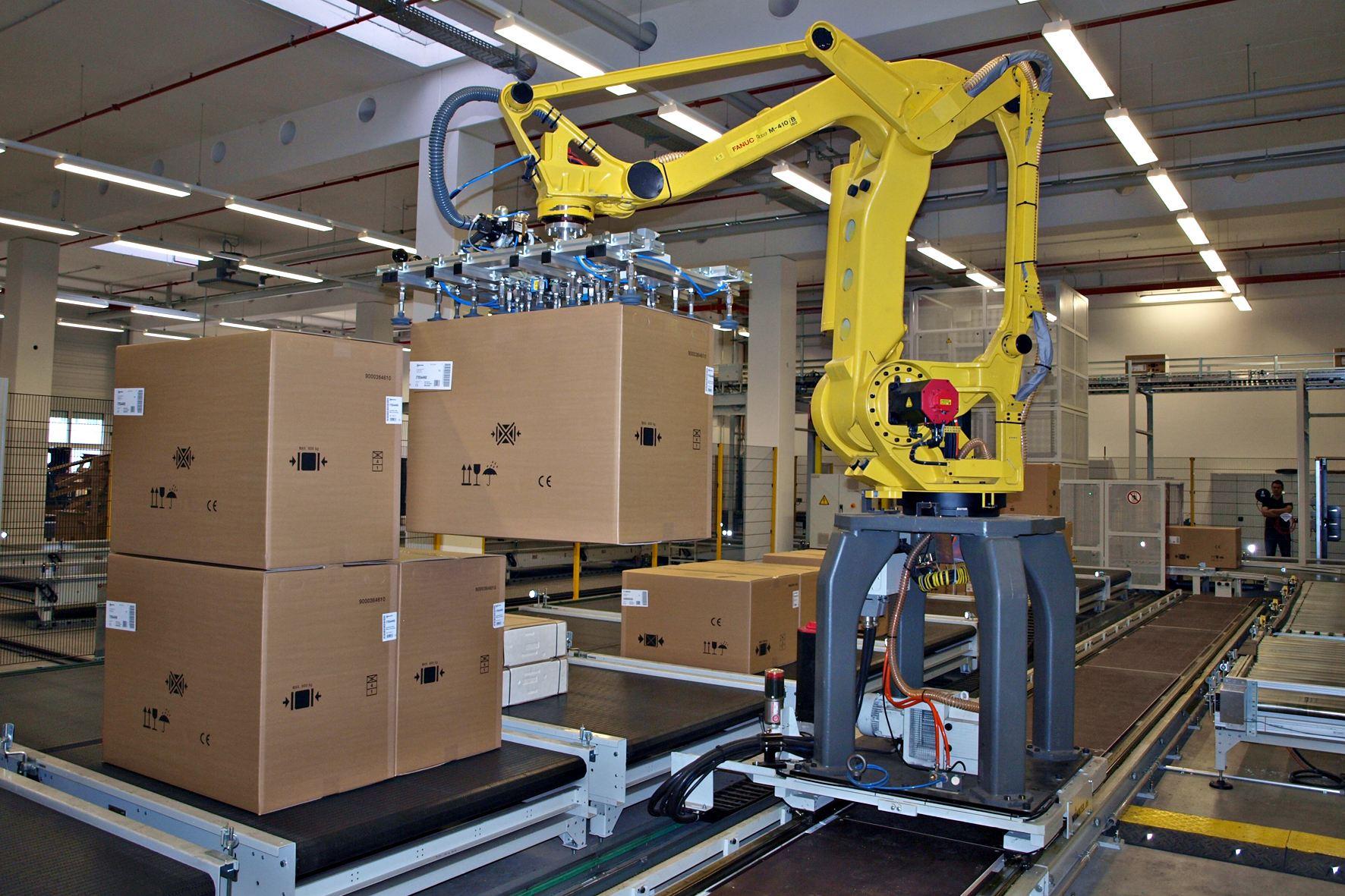 FANUC發那科機器人碼垛 X Robotics愛科思機器人x-ltd.com