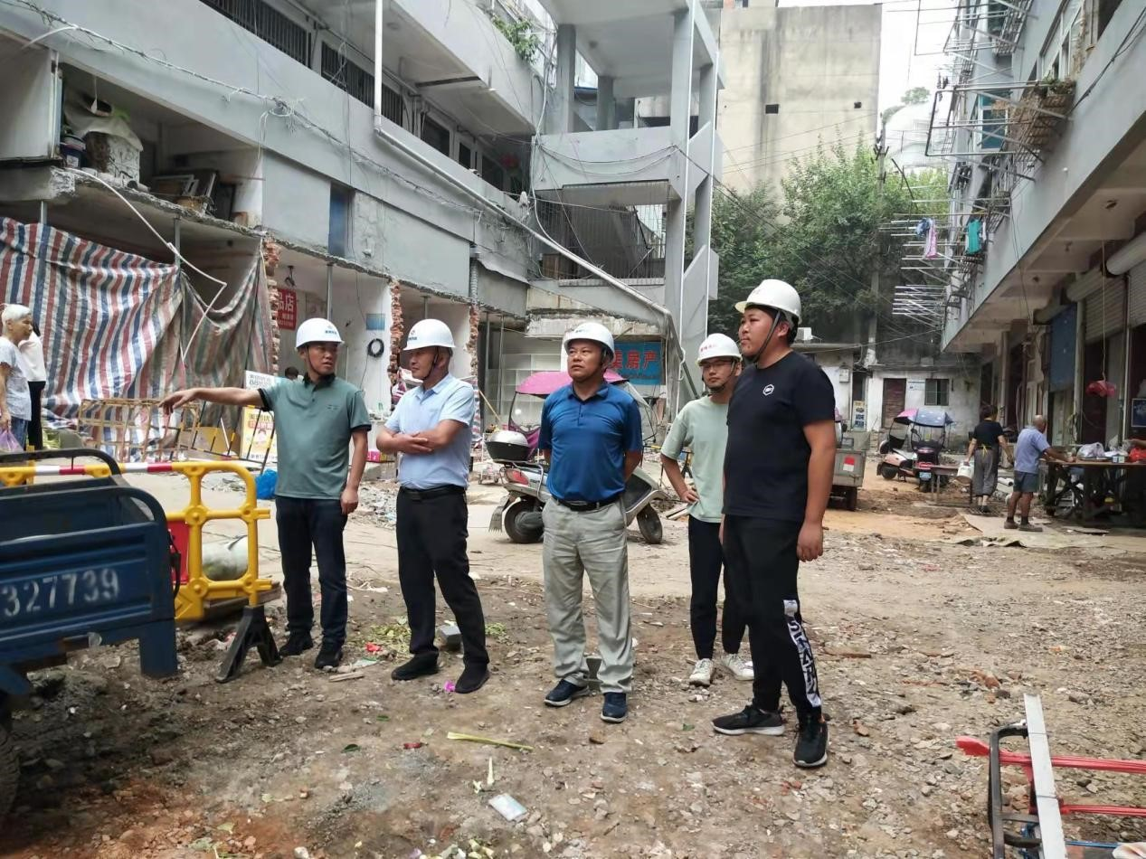 集團公司組織進行2021年國慶節假日前建設工程安全、質量和環境保護檢查