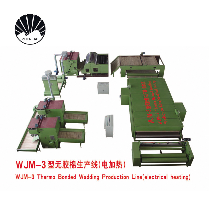 WJM-3型無膠棉生產線-電加熱熱風循環