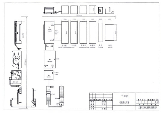 WJM-3型無膠棉+ZCJ-1000針刺棉生產線2