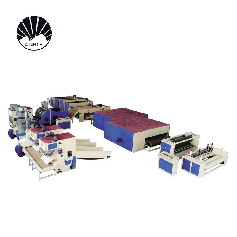 WJM-2-ZCM-1000無膠棉針刺棉生產線