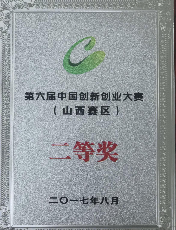第六屆中國-創新創業大賽二等獎