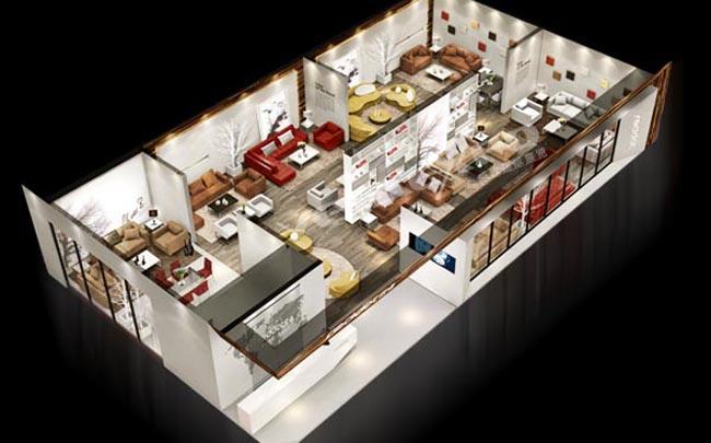 红点家具展台搭建1