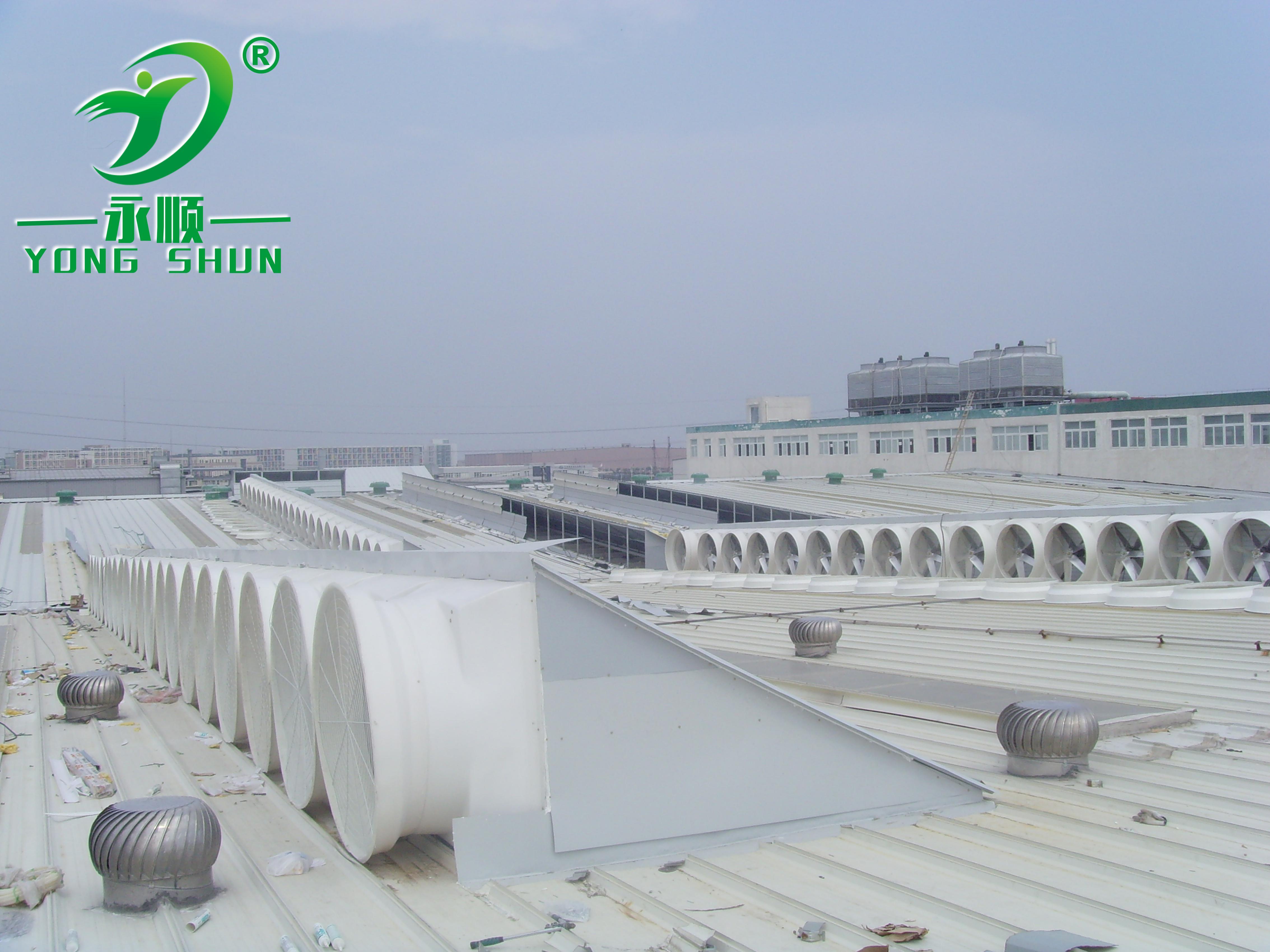 车间屋顶风机安装案例