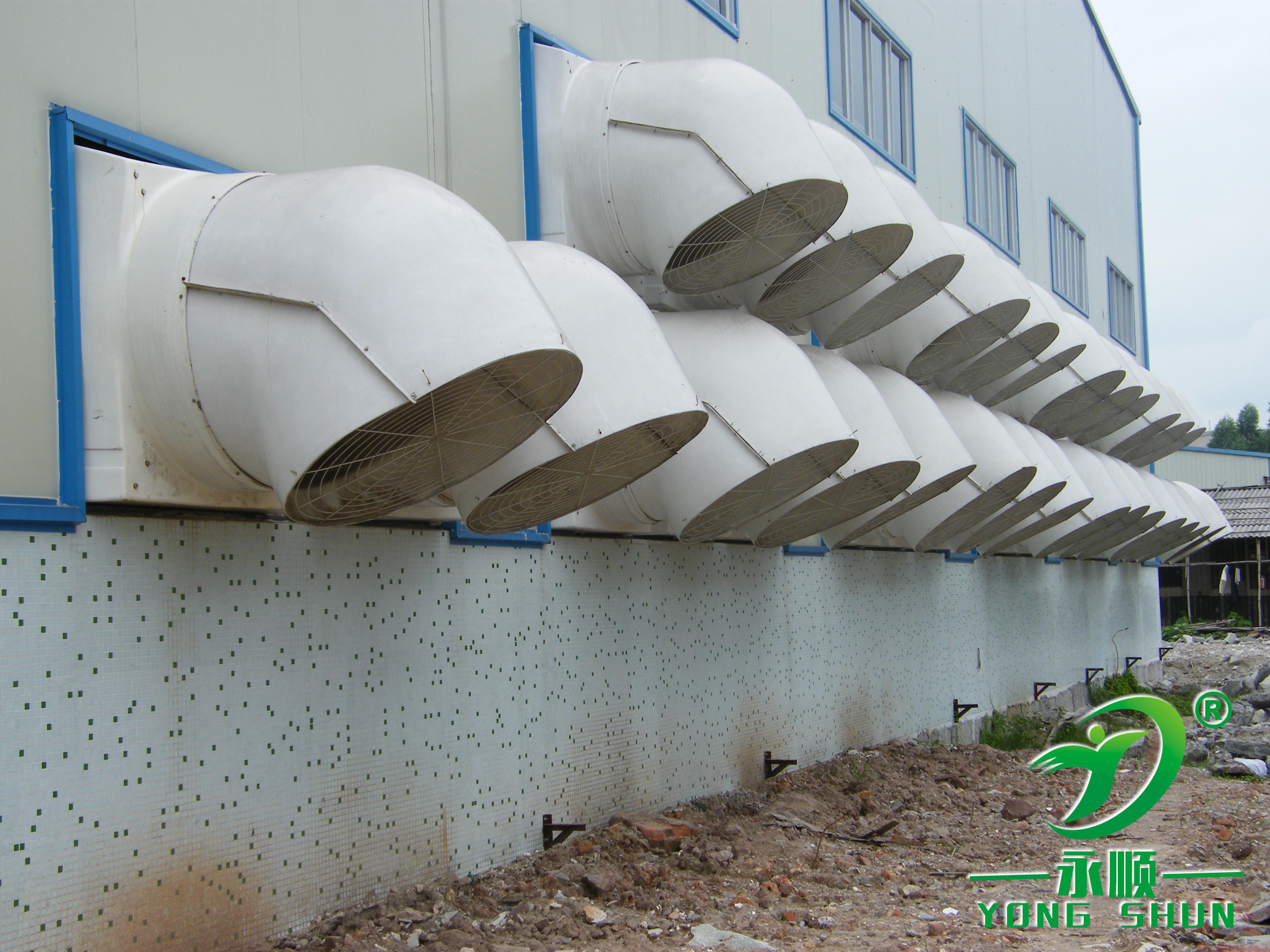 负压风机墙面安装案例