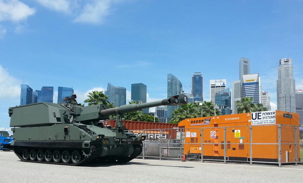 為新加坡陸軍開放日 提供5MW供電保障服務