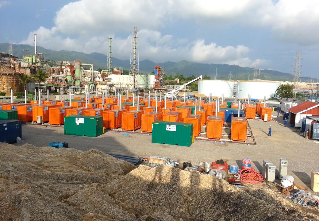 為菲律賓冶煉煉化廠提供50MW發電機組供電服務