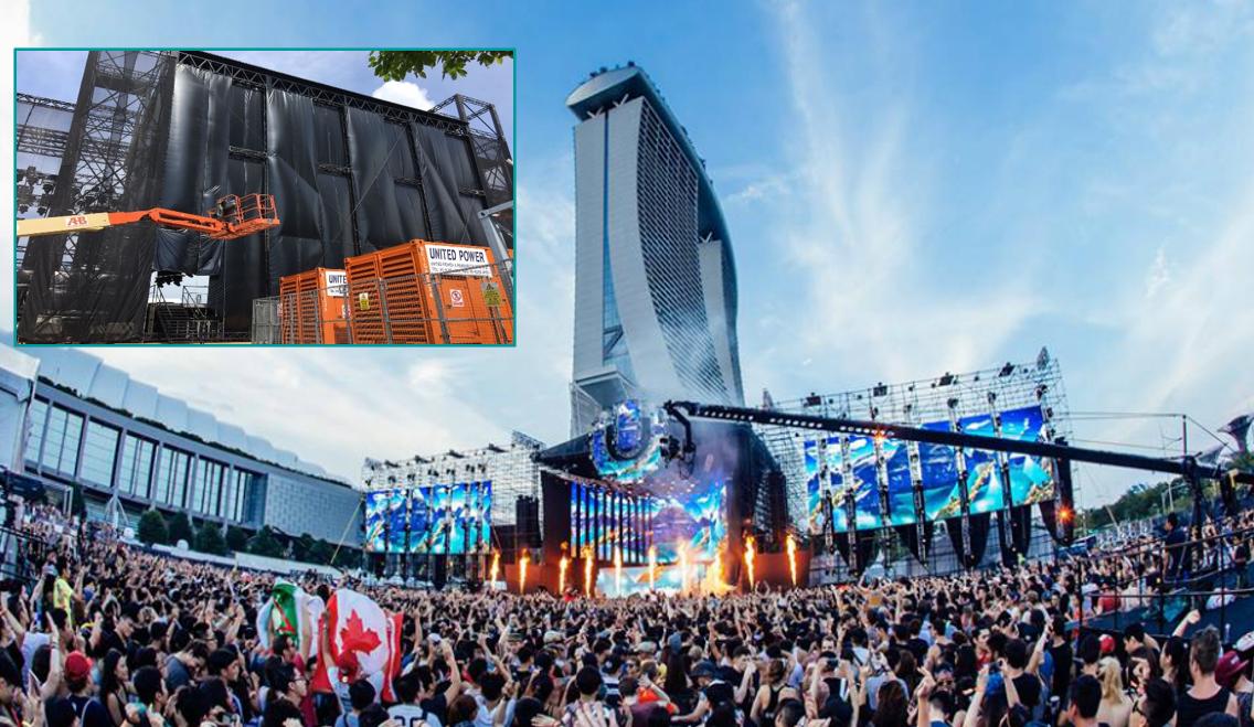 為新加坡超級音樂節提供10MW供電保障服務