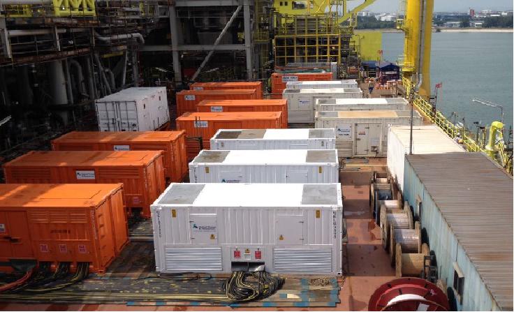 为启动振华超级载重船项目提供72MVA,13.8KV负载测试服务