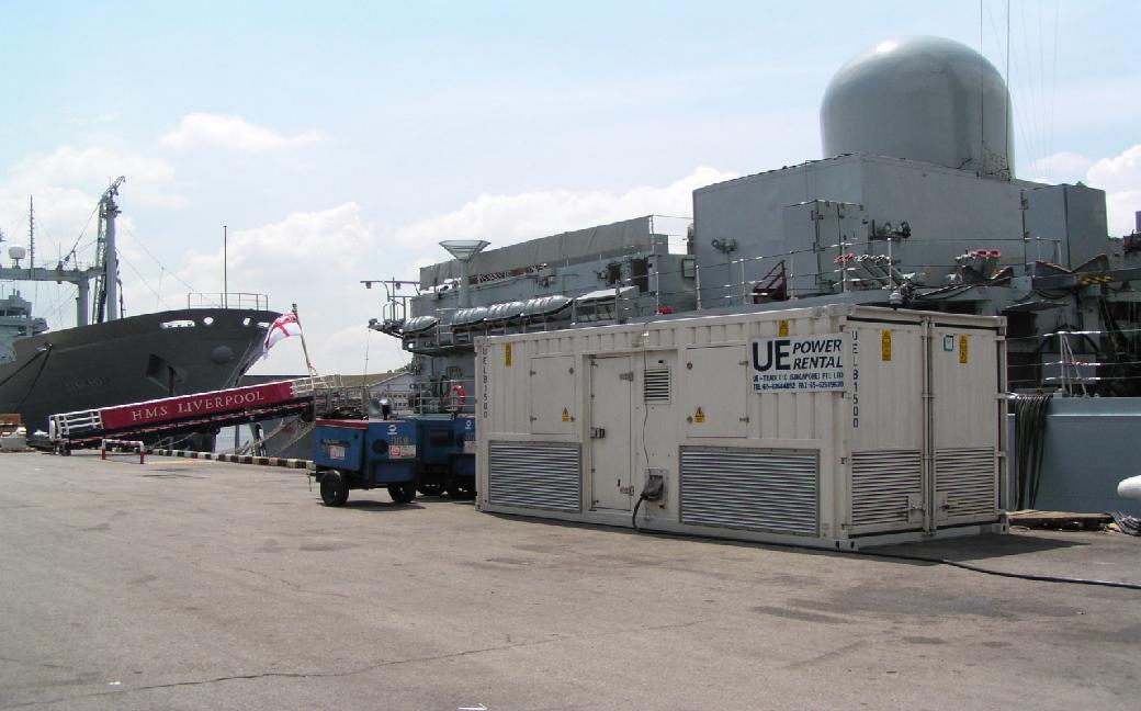 为英国皇家海军舰艇(HMSLiverpool)提供5MW负载测试服务